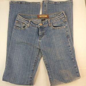 bebe Juniors Denim Blue Flare Jeans